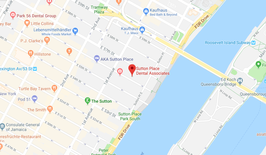 Sutton Place Dental Associates Map