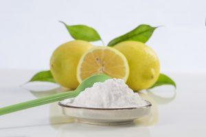 Image of a lemon and of backing soda